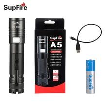 Supfire мини-фонарик Linterna светодио дный A5 фонарик Ручной Lanterna USB Flash Light для Fenix Olight Sofirn конвой S2 S3 лампа S045