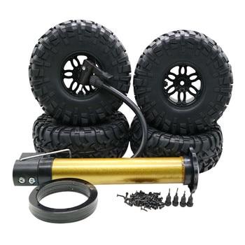 4PCS Inflatable Tire Wheel Beadlock 2.2 Inch For 1/10 Crawler SCX10 TRX4 RC 4WD  6.27