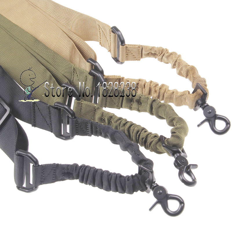 Adjustable Tactical Point Sling For Bungee Rifle Sling System Strap Hook