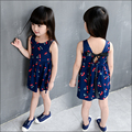 1-10T Baby Girl Dress Clothes Floral Print Girls Dress Cotton New Summer Style 2016 Costume Casual Kids Clothes Children Party