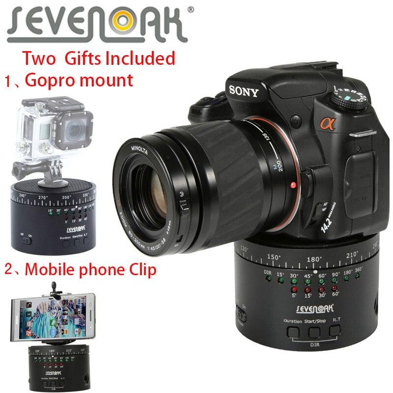 SEVENOAK SK-EBH01 Mechanical 360 Degree Swivel Panoramic Tripod Ball Head for DLSR Camera For Iphone7 Samsung Sony A7s A7r NEX-6 цена