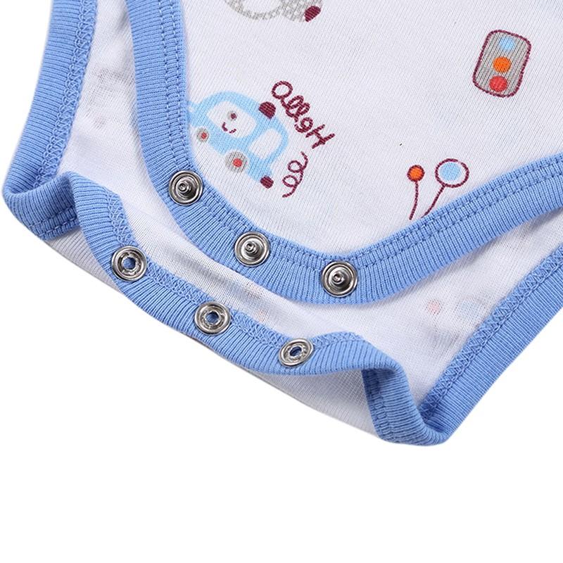 DH16106 Newborn Baby Clothes Animal Print Short Sleeve Cotton Baby Boy Romper Girl Ruffle Romper roupas de bebe infantil Costumes (12)