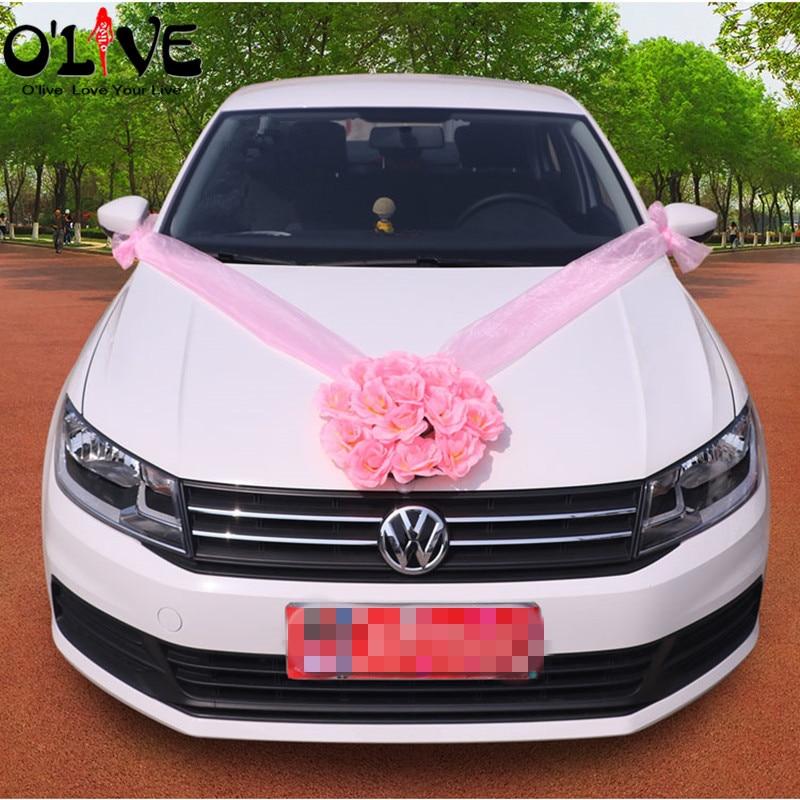 Altar Wedding Cars Timperley: Artificial Flowers Wedding Car Decorations Fake Silk
