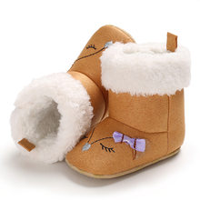 10122af5387 Raise Young Cartoon Winter Warm Baby Booties Plus Velvet Embroidery Toddler  Baby Girl Snow Boots Infant