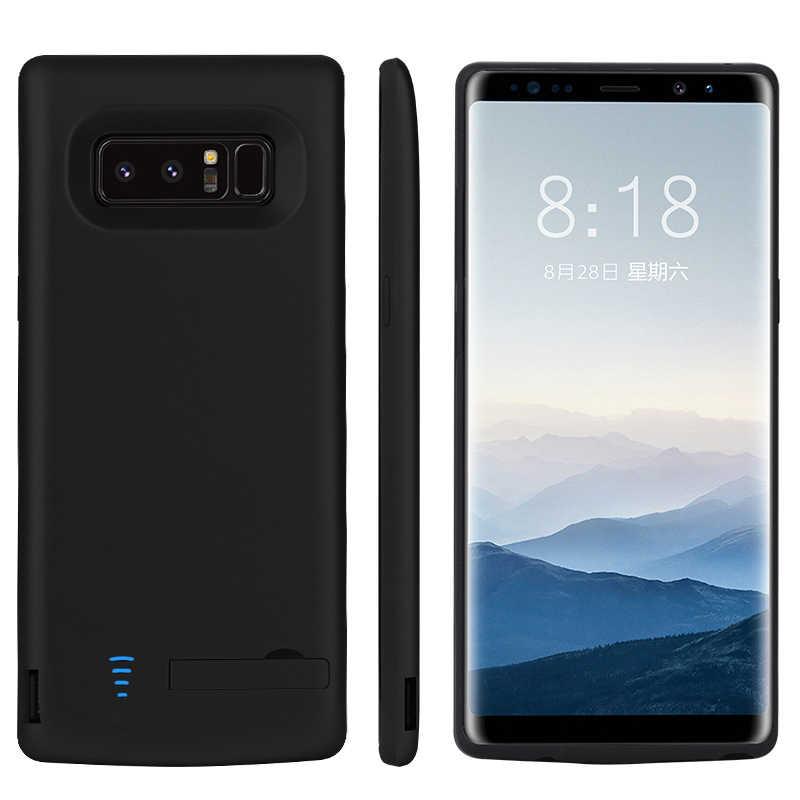 Caso 6500 mah Da Bateria Do Telefone móvel Para Samsung Galaxy Note 8 Note8 Tampa De Carregamento Banco de Potência Caso Carregador de Bateria Externa