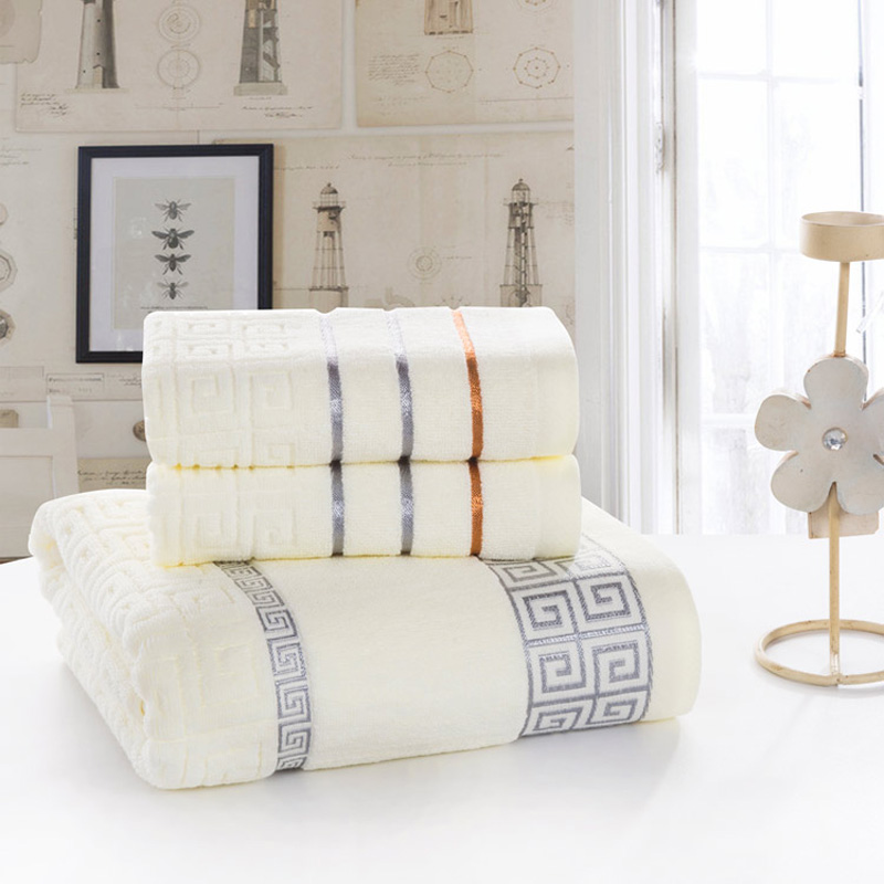 High quality 3 pcs bath sheets shower towels sets on sale for Bathroom sets on sale