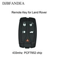 DJBFANDEA 3Pcs/Lot Remote Keyless Entry Car Key Fob For LAND ROVER Freelander LR2 2008 2012 Complete Key 433MHz PCF7945 Chip