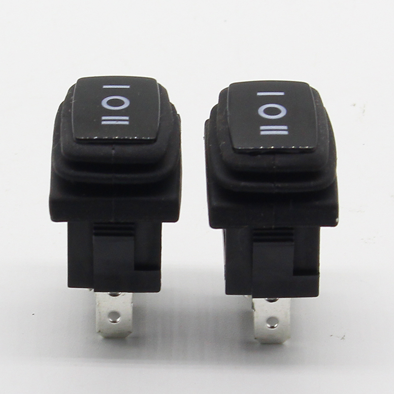 5PCS Waterproof boat switch Rocker switch Power switch Miniature third gear switch 3 feet 3 files 6A 250V 2x4 double band switch gear 12 feet