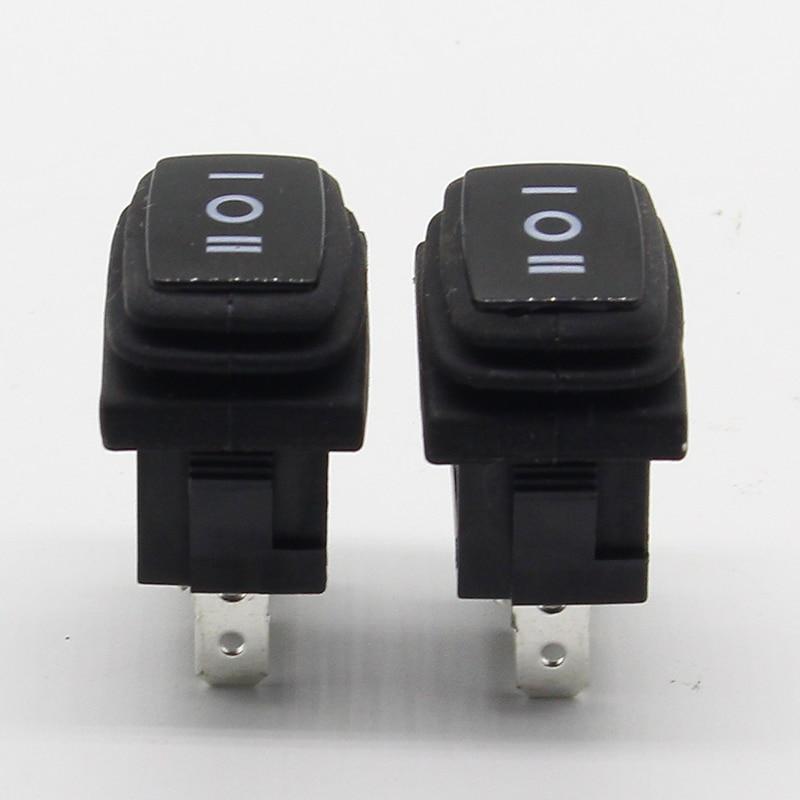 5PCS Waterproof boat switch Rocker switch Power switch Miniature third gear switch 3 feet 3 files 6A 250V