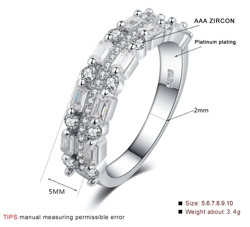 LMNZB Luxury Full Crystal Zircon Rings for Women 925 Sterling Silver Jewelry Promise Wedding anel statement anillos LR0185