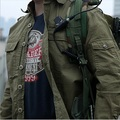 Hombres Táctica Militar Camisas 100% de Algodón Transpirable Camisas de Los Hombres Camisa de Manga Larga de Múltiples bolsillos Ejército