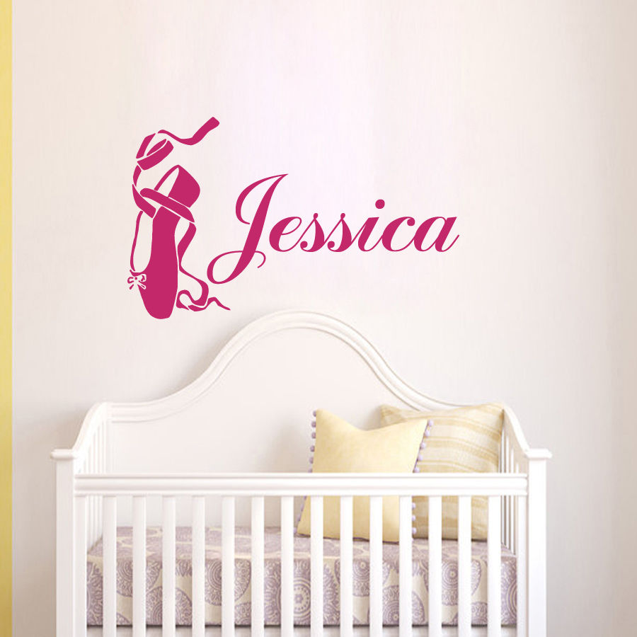Wall Decals S Name Ballet Shoes Pointe Decal Nursery Sticker Bedroom In Stickers From Home Garden On Aliexpress Alibaba Group
