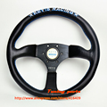 Free shipping 350mm KEYS RACING SPORT CAR STEERING WHEEL