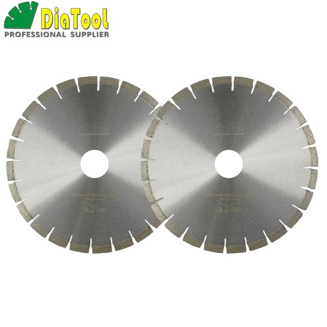 "DIATOOL 2pcs 14"" Diamond Silent Saw Blade Sandwich Steel Core Cutting Disc Bore 60mm Granite Blade Diamond Wheel Disk"