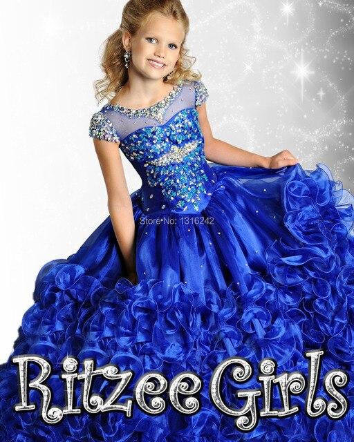Gorgeous Ritzee Girls 69010 Little Girls Pageant Dresses Ball Gown ...