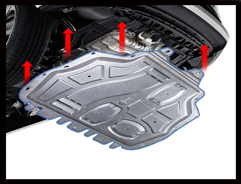 Car styling For <font><b>Mazda</b></font> <font><b>3</b></font> Axela plastic steel <font><b>engine</b></font> guard For Axela 2014-2017 <font><b>Engine</b></font> skid plate fender 1pc image