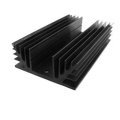 Black Aluminum Heat Sink for Three Phase Solid State Relay normally open single phase solid state relay ssr mgr 1 d48120 120a control dc ac 24 480v