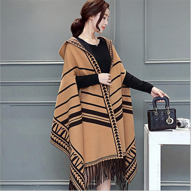 2016 autumn tassels fringed hooded shawls women scarves fashion new wraps Cashmere scarves Water mink hair