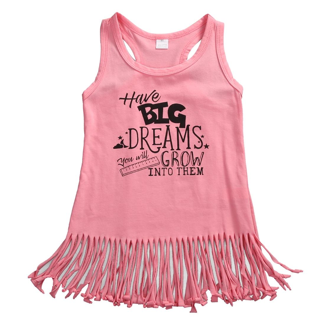 Toddler Kids Baby Girls Clothing Tassel Dress Summer New