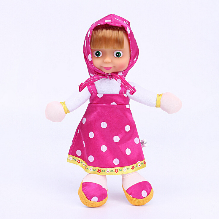 Soft-Lovely-Doll-Masha-And-The-Bear-Russia-Comedy-Child-Cotton-Animation-23CM-Plush-Toys-Send-Child-Gift-2