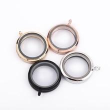 30 мм Магнитная стеклянная плавающая подвеска, медальон, ожерелье, память, фото, медальоны, 27 стилей, бесплатные цепочки, поставляются с