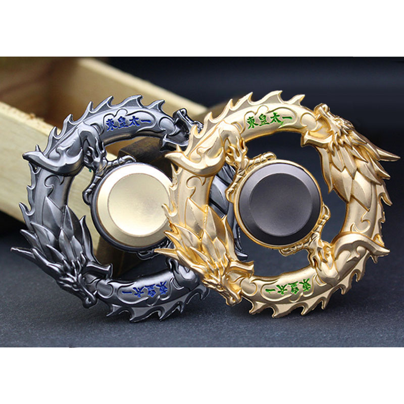 Dragon Metal Fidget Spinner Zinc Alloy Gyro Rotary EDC Hand Spinner For Autism And ADHD Focus Stress Fingertip G0158