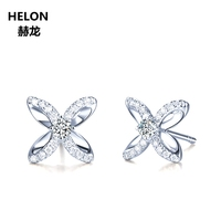 0.16ct SI/H Natural Diamonds Stud Earrings Solid 14k White Gold Engagement Wedding Anniversary Party Women Earrings