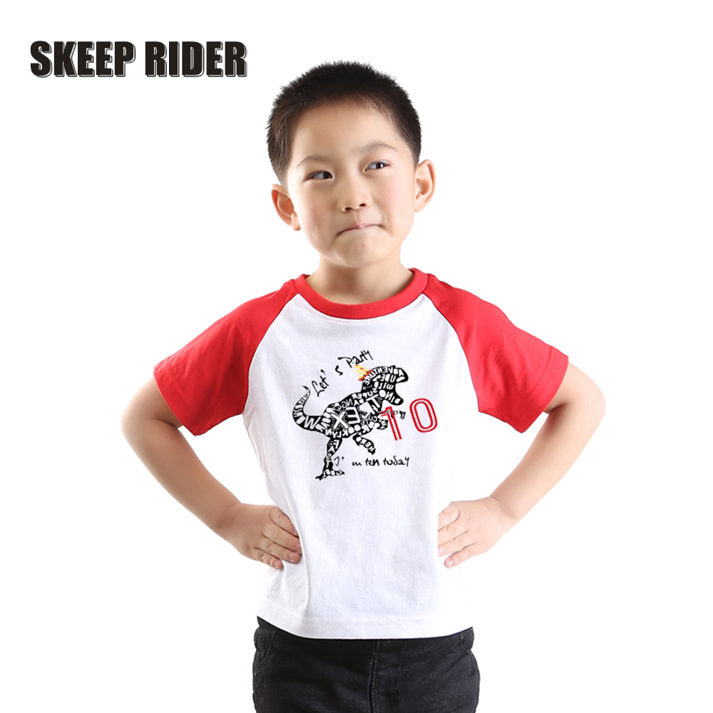 Happy Birthday T Shirt Boy Fashion Girls Kids Shirts Party Plain O-Neck Tops Children Tees Clothes