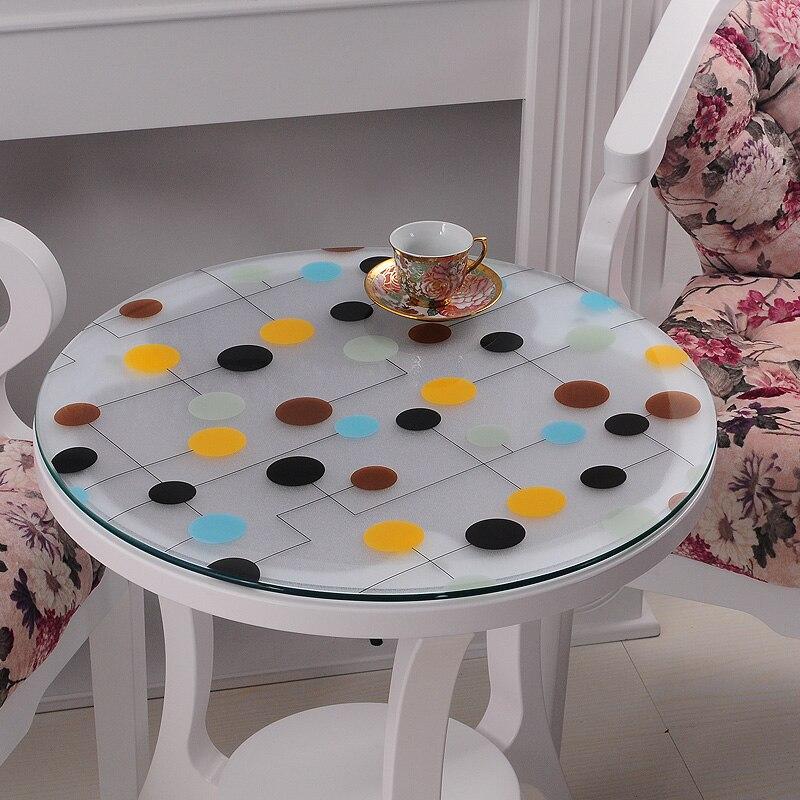 1 pcs rond transparent PVC nappes pour table basse verre doux ...