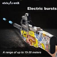Graffiti Edition P90 Electric Toy Gun Live CS Assault Snipe Weapon Soft Water Bullet Bursts Gun