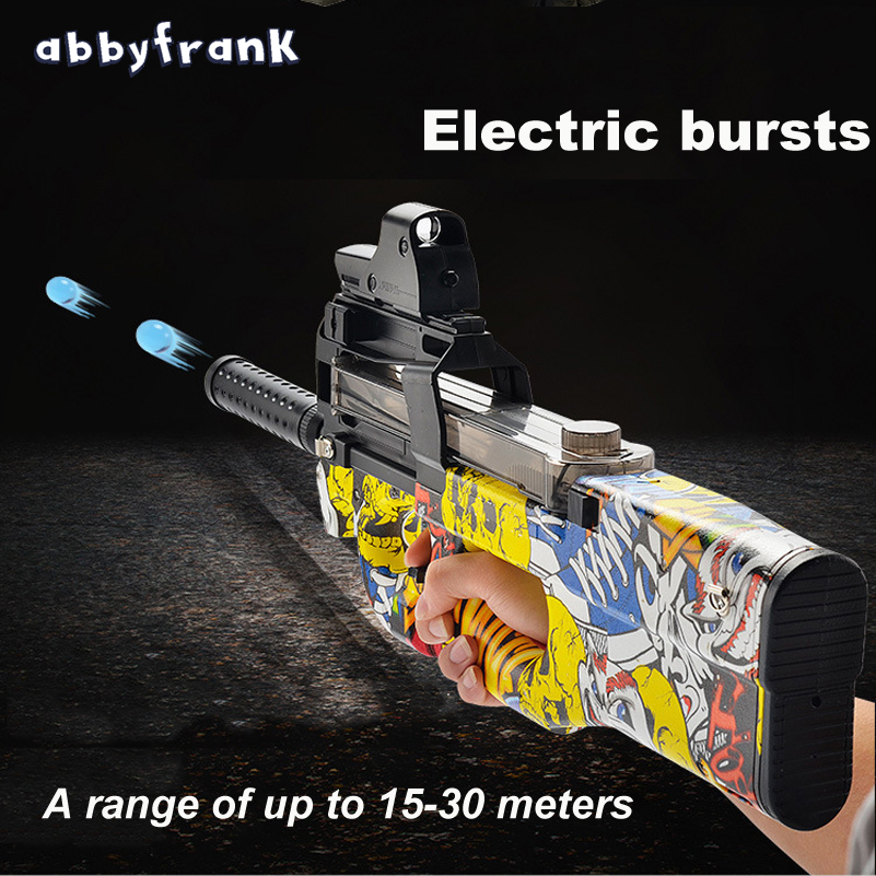 P90 Electric Auto Toy Gun Graffiti Edition Live CS Assault Snipe Weapon Water Bullet Bursts Gun Funny Outdoor Pistol Toys town talk anti tarnish silver polishing cloth 13 x 18cm by town talk