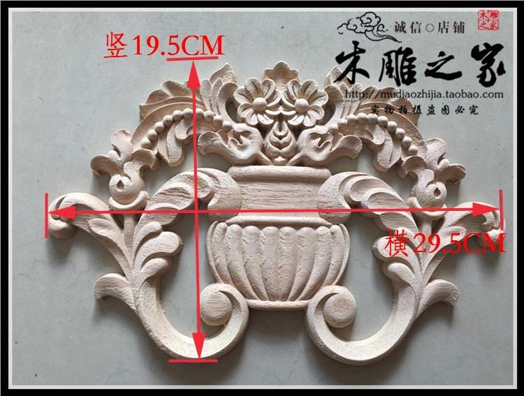 Large square wood carved appliqué trade me