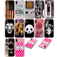 Case For iphone X Cute Cartoon Animal Anime Soft TPU Back Cover for 8 Plus Phone 7