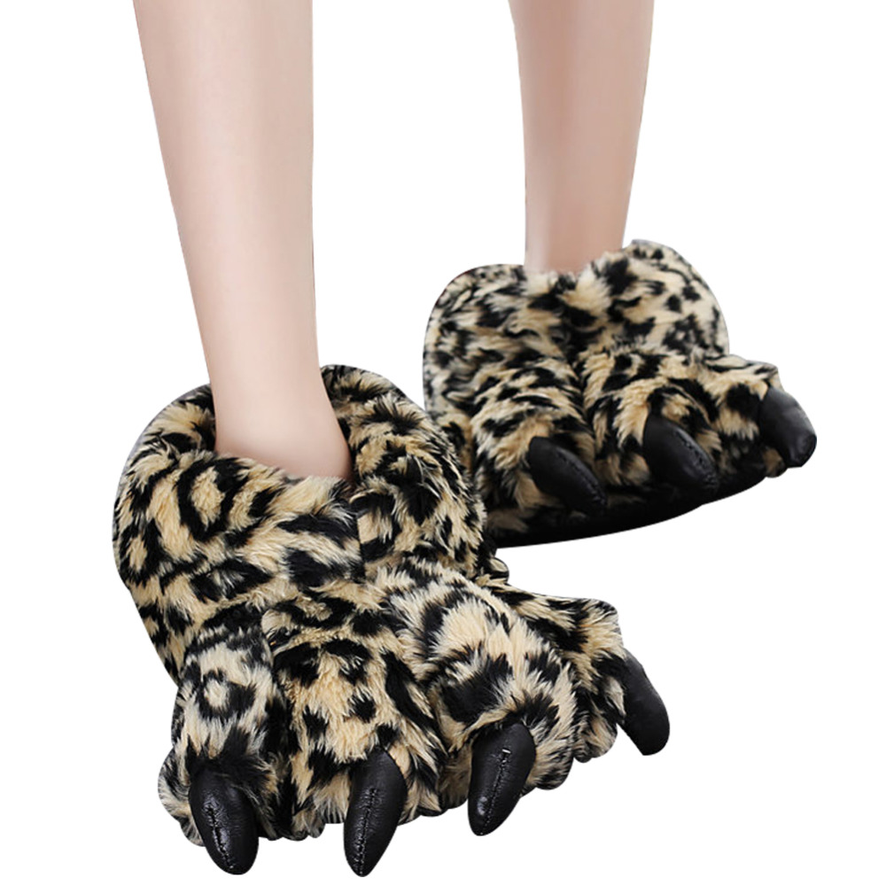 Creative Cute Girls House Shoes Winter Warm Shoes Women Slippers Claws Winter Cotton Slippers For Home Use Soft Plush Adult Size