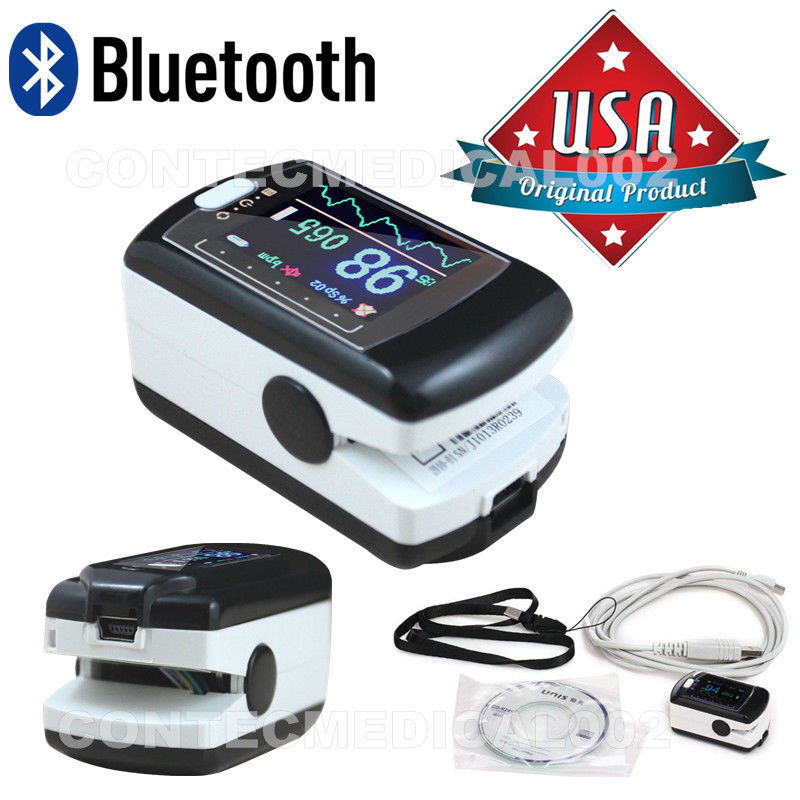 16 NEWE CMS50EW Pulse Oximeter with bluetooth, Spo2 Monitor OLED USB+Software+ alarm Pulse Ox Blood Oxygen Saturation Monitor stylish solid color leather material visor for men