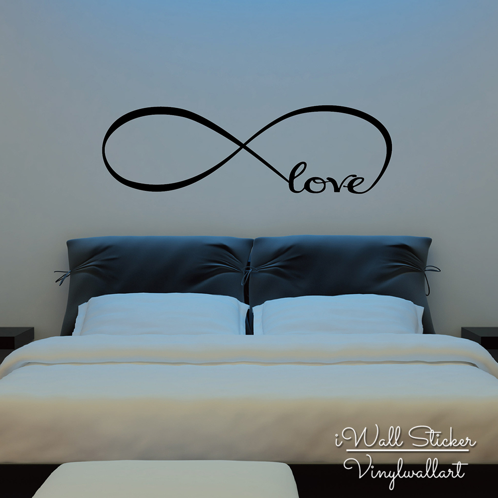 Wandtattoo Schlafzimmer Unendlich Infinite Love Quote Wall Sticker Love Quotes Wall Decal Wall Decoration Living Room Love Quotes Room Decor Q261