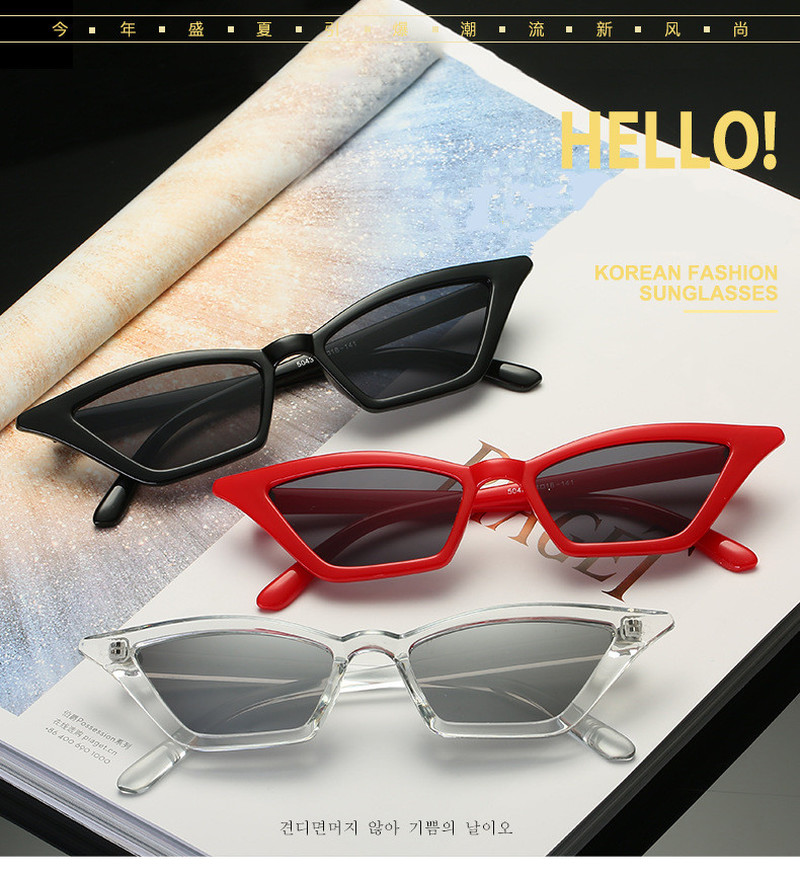 Punk Lady Cat Eye Sunglasses New Fashion Designer Colorful Marine Personality Woman Triangular Sunglass Punk