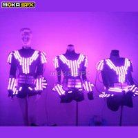 Women LED robot suits stage clothes luminous costume RGB lady ballroom costume night clubs dj entertainment show party wear