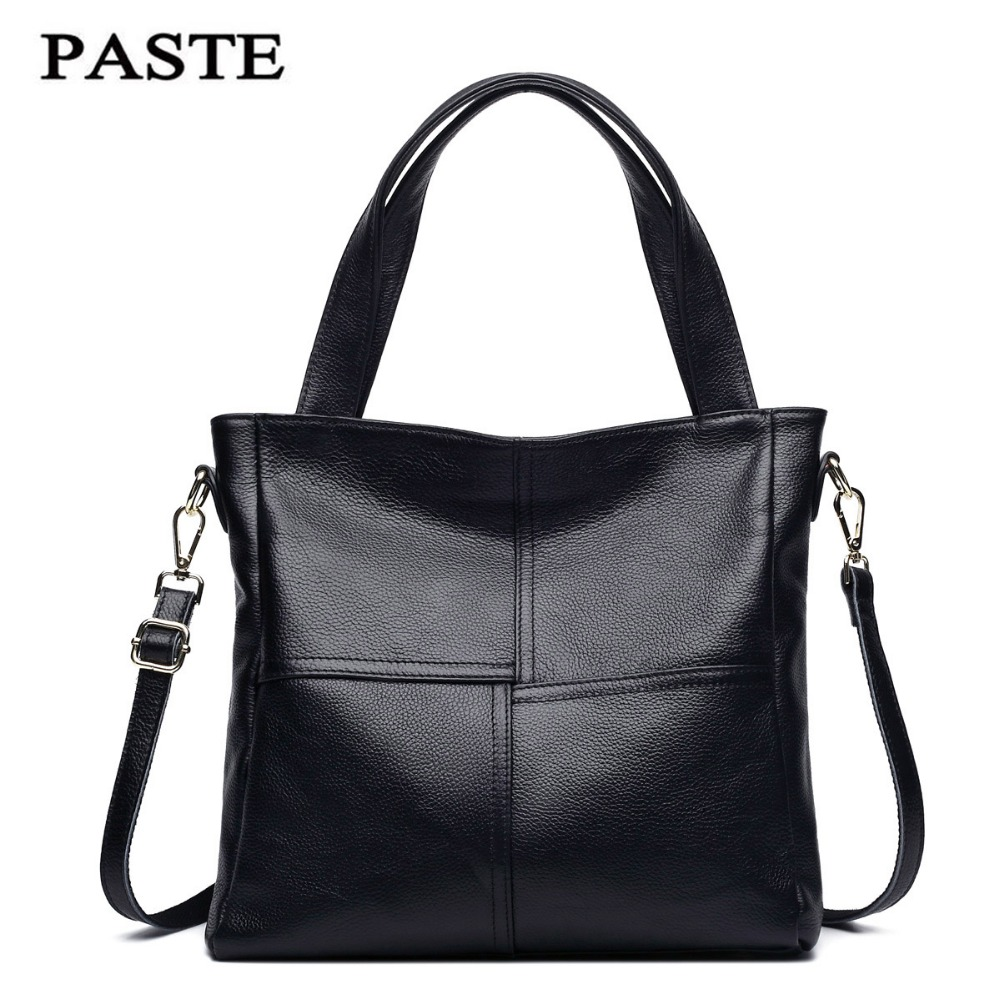 PASTE 2017 Women Shoulder Bag Genuine Cowhide Leather Female Fashion handbag Totes Famous brand Designer Messenger/Crossbody Bag crossbody bag handbag 2018 new brand designer messenger bags genuine leather women s female fashion woman chains bag shoulder