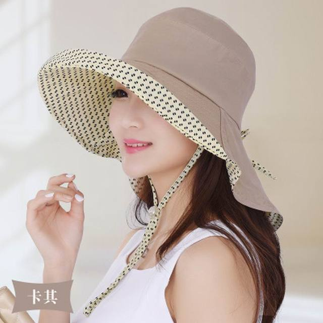 Sombrero femenino sunbonnet del verano al aire libre grande del sol protector solar plegable sombrero casquillo de la playa anti-ultravioleta