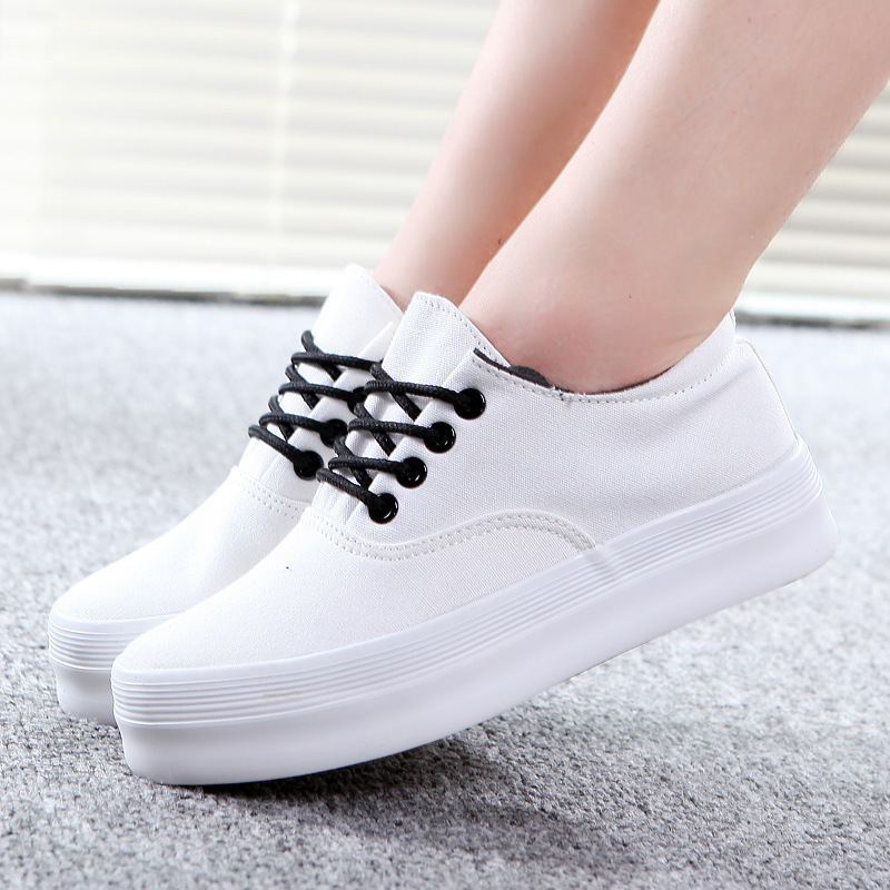 a9a8e4cccf80 New 2015 Classic Canvas Sneakers Women s Fashion Shoes Platforms Women  Sneakers White Shoes Breathable Sapatos Femininos SND 063-in Men s Casual  Shoes from ...
