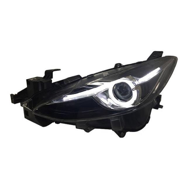 Exterior Running Lights Assembly Cob Led Drl Automobiles Assessoires Side Turn Signal Car Lighting Headlights For Mazda Axela