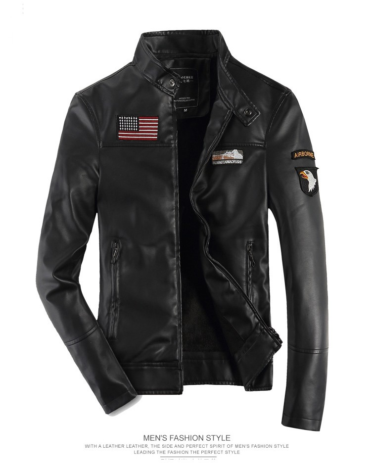 da6ccfe9cc4 DIMUSI male Leather short slim clothing design stand collar casual  motorcycle leather jacket Men casual veste en cuir 4XL