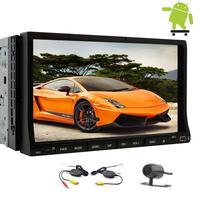 Беспроводной камеры 2Din Android 6.0 dvd-плеер автомобиля 7 ''моторизованный цифровой Экран в тире Тюнинг автомобилей стерео GPS навигации головы блок