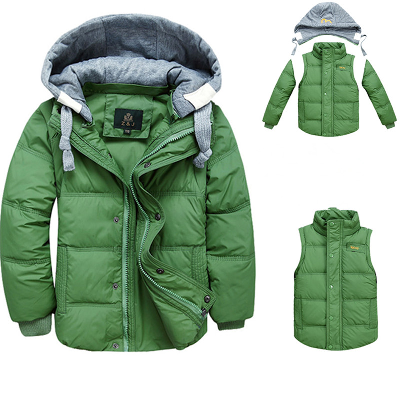 2018 sport children clothing white duck down winter boy jackets removable hooded solid winter boys down jacket coats for 4-10T