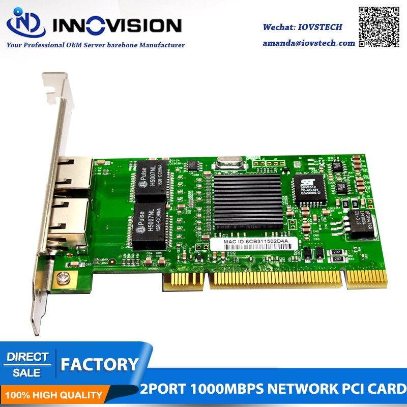 Intel porta dupla 8492mt 82546eb 82546 gb 1000 mbps roteador macio servidor pci gigabit lan placa de expansão