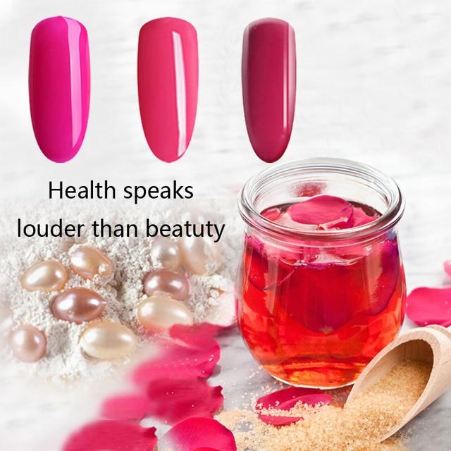 TREEINSIDE природных чистой Органической основе-Роуз извлеченные ногтей гель для ногтей необходимо уф светодиодная лампа вылечить зеленый сейф гель nail design DIY