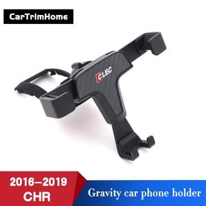 Image 2 - C hr Zubehör Telefon Halter Für Toyota CHR 2016 2017 2018 2019 Gravity Mobile Handy Halter c  hr Air Vent Halterung Ständer