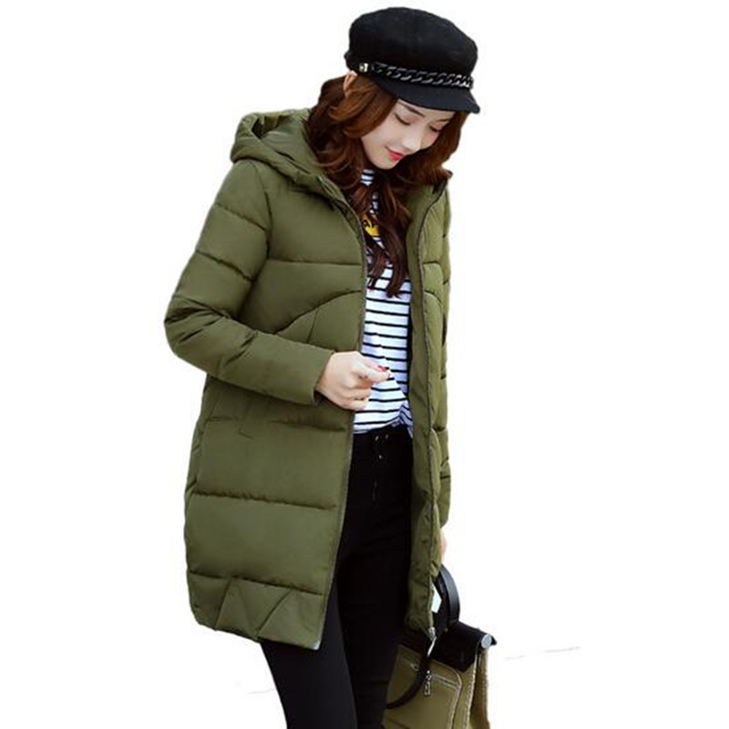 2017 NEW Parka Hooded Winter Jacket Women Abrigo Mujer Warm Long Jacket Female Down Cotton Coat Ladies Padded Winter Coat C3463 casio g shock ga 100cf 1a9
