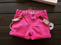 New Arrival Baby Girls Summer Shorts Girls Suspender Shorts Kids Cotton Shorts Summer Clothing